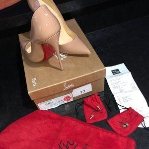 Christian Louboutin nude So Kate 120 Patent